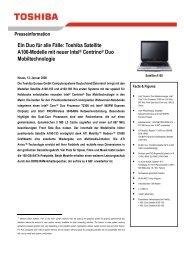 Ein Duo für alle Fälle: Toshiba Satellite A100-Modelle mit neuer Intel ...