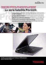 La serie Satellite Pro 6100. - Toshiba