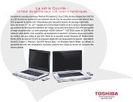La série Qosmio : - Toshiba
