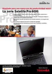 La serie Satellite Pro 6000 - Toshiba