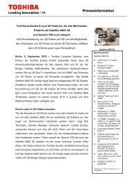 Presseinformation - Toshiba