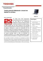 Toshiba präsentiert Mittelstands- variante ihrer Satellite Pro L20-Serie