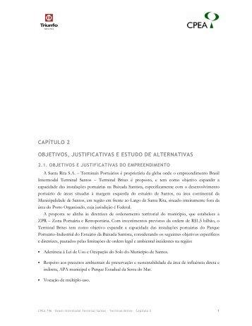 capítulo 2 objetivos, justificativas e estudo de alternativas - Ibama