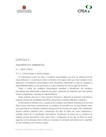 CAPÍTULO 5 DIAGNÓSTICO AMBIENTAL - Ibama