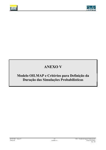 Anexo V: Modelo OILMAP e Critérios para Definição da Duração