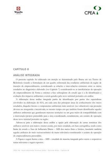 CAPÍTULO 8 ANÁLISE INTEGRADA - Ibama