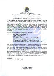 AUTORIZAÇÃO DE ABERTURA DE PICADA N° 547/2011 O ... - Ibama