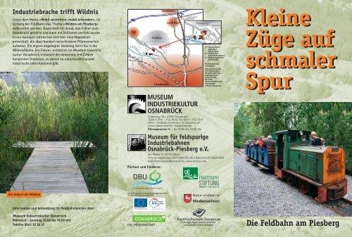 Flyer Feldbahn - im Museum Industriekultur