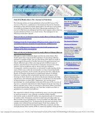 Journal of Nutrition July Media Alert