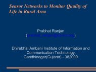 Sensor Networks to Monitor Quality of Life in Rural Area