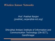 Wireless Sensor Networks - DAIICT Intranet - Dhirubhai Ambani ...