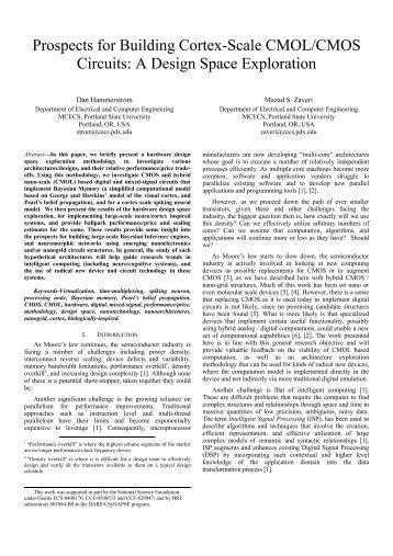 Prospects for Building Cortex-Scale CMOL/CMOS ... - IEEE Xplore