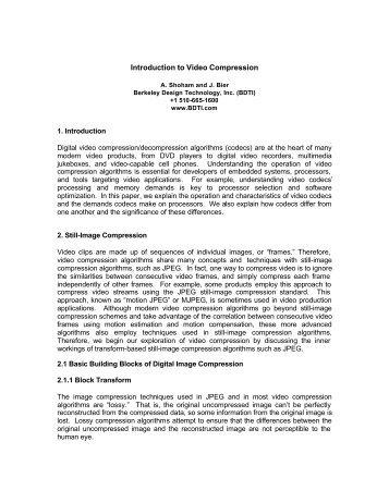 ESC-210: Introduction to Video Compression - DAIICT Intranet