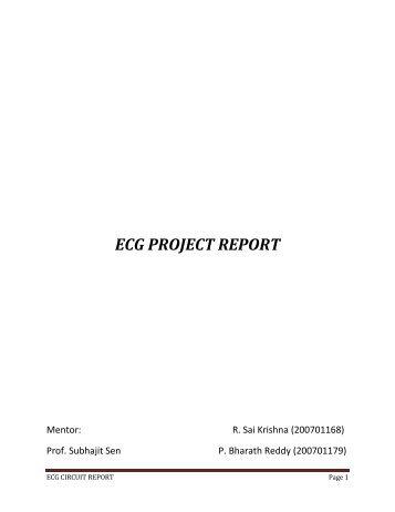 ECG Amplifier - DAIICT Intranet