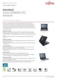 Datenblatt Fujitsu LIFEBOOK S752 Notebook - bei Fujitsu ...