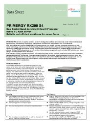 PRIMERGY RX200 S4 - bei Fujitsu Technology Solutions GmbH ...