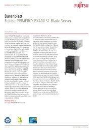 Datenblatt Fujitsu PRIMERGY BX400 S1 Blade Server - bei Fujitsu ...