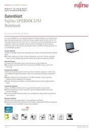 Datenblatt Fujitsu LIFEBOOK S761 Notebook - bei Fujitsu ...