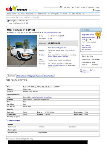 Keith Martin Collector Car Price Tracker