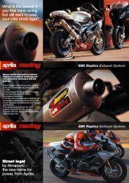 SBK Replica Exhaust System - Aprilia