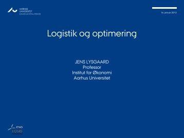 Logistik og optimering - Aarhus Universitet