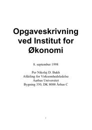 Opgaveskrivning ved Institut for Økonomi - School of Economics and ...