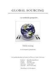 global sourcing - School of Economics and Management University ...