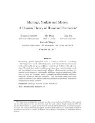 Marriage, Markets and Money: A Coasian Theory of Household ...