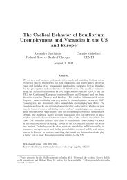 The Cyclical Behavior of Equilibrium Unemployment and Vacancies ...