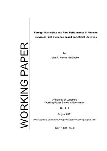 Foreign Ownership and Firm Performance in