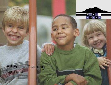 Forms Manual - NW Colorado BOCES