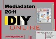 Mediadaten 2011 - DIYonline