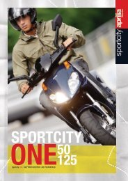 The personal space you deserve. Accessories Sportcity One - Aprilia