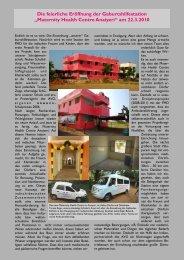 Die Eröffnung der Geburtshilfestation am 22.03.2010 in Anayeri