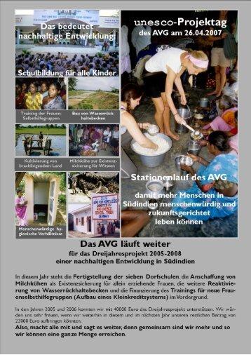 Der UNESCO-Projekttag 2007 - Auguste-Viktoria-Gymnasium Trier