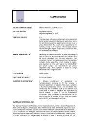 VACANCY NOTICE - World Tourism Organization UNWTO