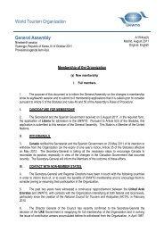 New membership - World Tourism Organization UNWTO