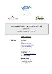 List of participants - World Tourism Organization UNWTO