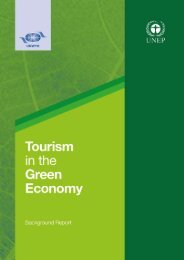 Tourism in the Green Economy ? Background Report - UNEP