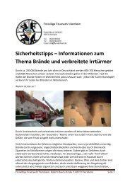 sicherheitstipps informationen zum thema braende und verbreitete ...