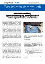 Mobilfunkstrahlung, Mobilfunkstrahlung ... - Diagnose Funk