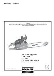 Návod k obsluze - Katalog - Dolmar