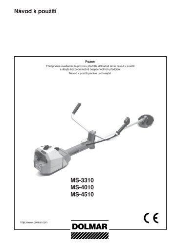 Návod k pouĎití MS-3310 MS-4010 MS-4510 - Katalog - Dolmar