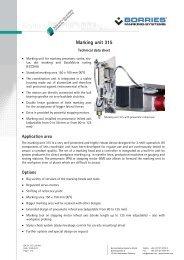 Marking unit 315 - Borries Markier-Systeme GmbH