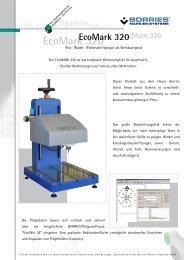 EcoMark 320 - Borries Markier-Systeme GmbH