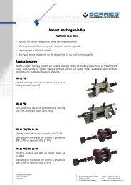 Impact marking Impact marking spindles - Borries Markier-Systeme ...