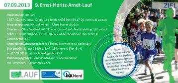 07.09.2013 9.Ernst-Moritz-Arndt-Lauf - Laufgruppe-stralsund.de