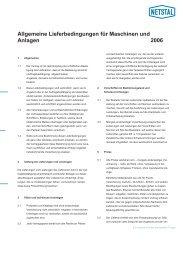 Allgemeine Lieferbedingungen für Maschinen und Anlagen 2006