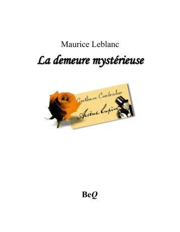 La demeure mystérieuse - La Bibliothèque électronique du Québec