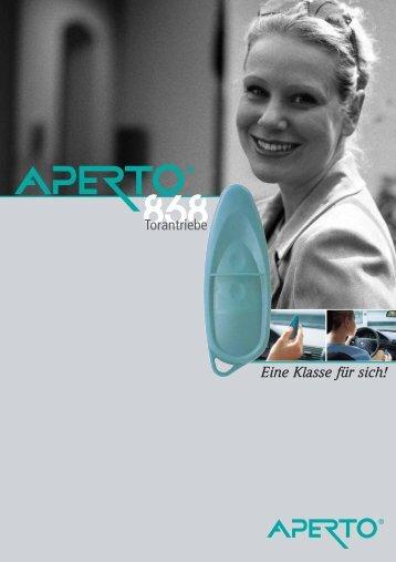 Eine Klasse für sich! Torantriebe - Aperto Torantriebe GmbH